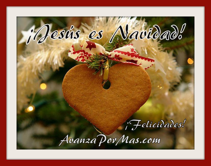 Jes s es navidad avanza por m s - Tarjetas navidenas cristianas ...