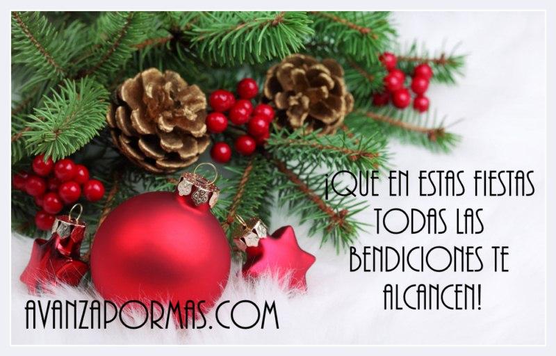Que en estas fiestas todas las bendiciones te alcancen - Tarjetas navidenas cristianas ...