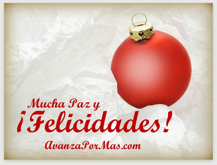 Mucha paz y felicidades avanza por m s - Tarjetas navidenas cristianas ...