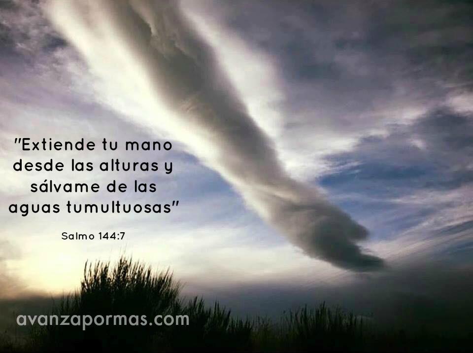 nube de mano de Dios
