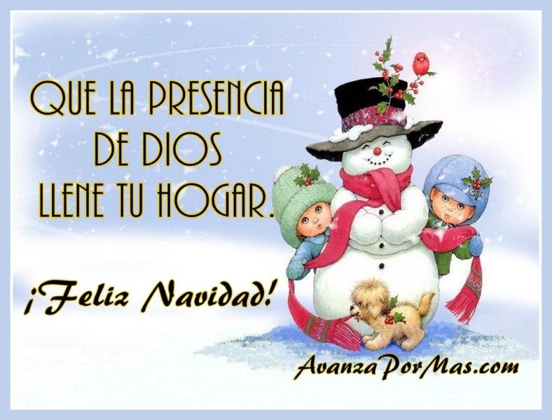 Que la presencia de dios llene tu hogar avanza por m s - Tarjetas navidenas cristianas ...
